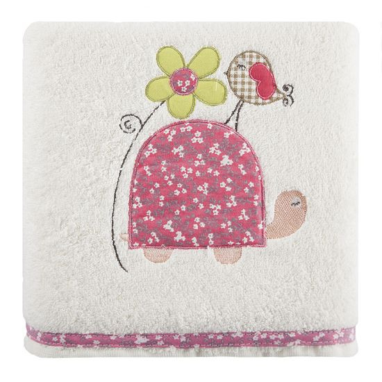 Dziecięcy ręcznik kąpielowy żółwik różowy 50x90 cm - 50 X 90 cm