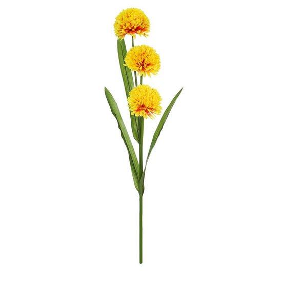 Kwiat dekoracyjny ŻÓŁTY 98 CM -
