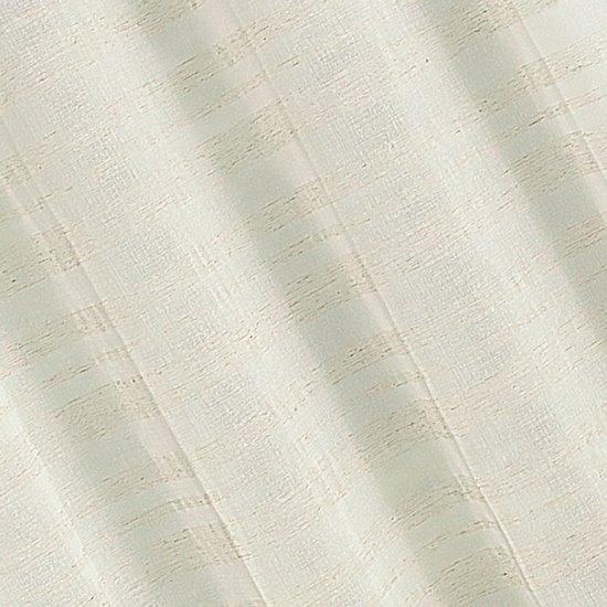 Zasłona w stylu eco subtelne pasy przelotki 140x250cm - 140 X 250 cm