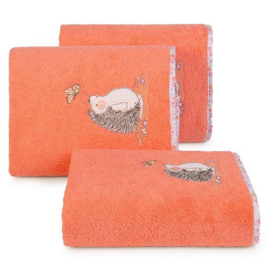 Ręcznik dziecięcy z haftowaną aplikacją z jeżykiem 50x90cm - 50 X 90 cm