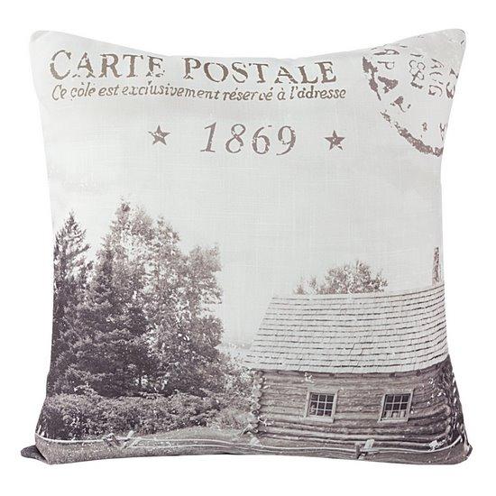 Poszewka dekoracyjna na poduszkę 45 x 45 kolor stalowy - 45 X 45 cm