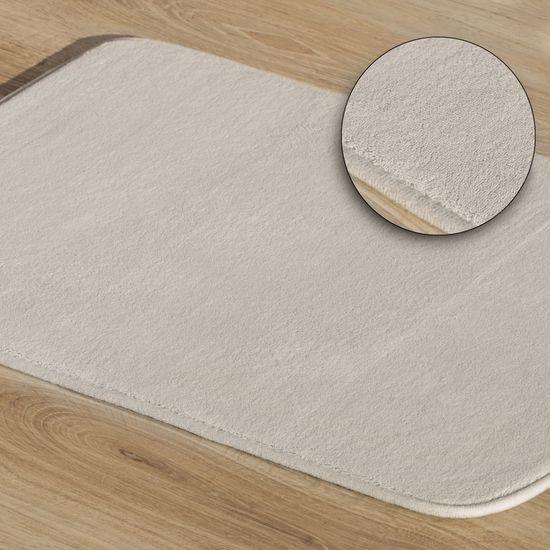 Dywanik gładki łazienkowy beżowy 60x90cm - 60 X 90 cm - beżowy