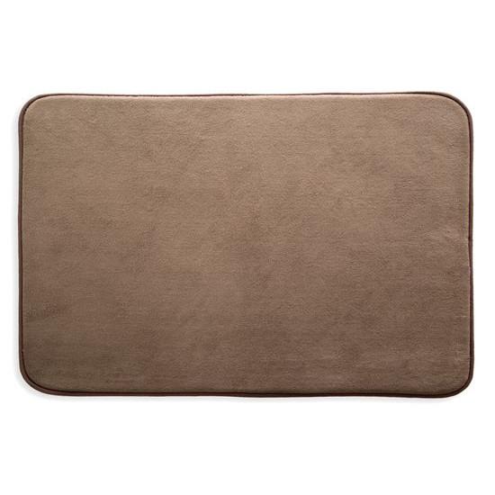 Dywanik gładki łazienkowy brązowy 60x90cm - 60 X 90 cm - brązowy