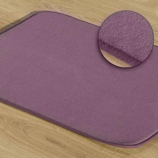 Dywanik gładki łazienkowy fioletowy 60x90cm - 60 X 90 cm - fioletowy