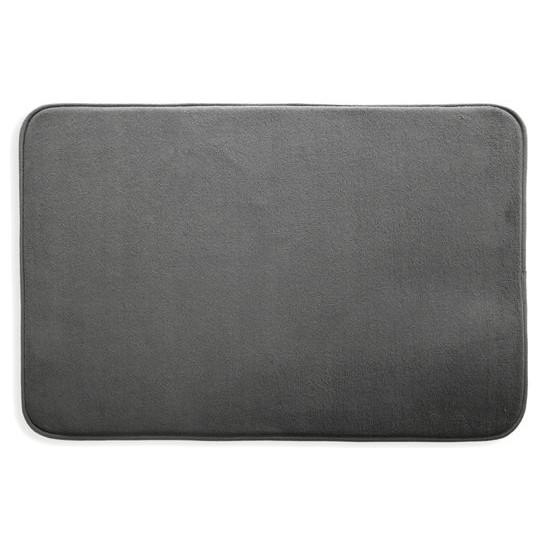 Dywanik gładki łazienkowy grafitowy 60x90cm - 60 X 90 cm - ciemnoszary