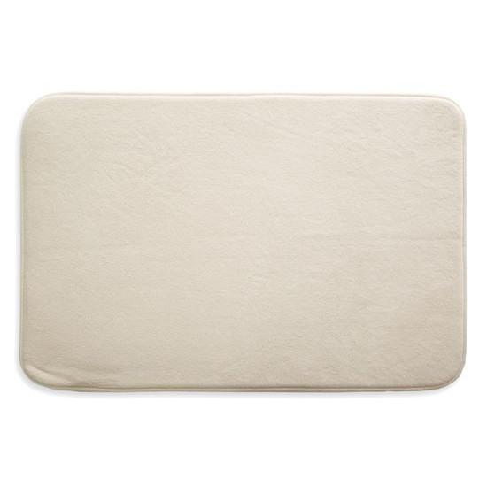 Dywanik gładki łazienkowy kremowy 50x70cm - 50 X 70 cm - ecru