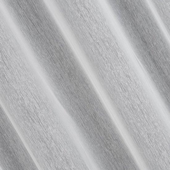 Biała FIRANA o STRUKTURZE DESZCZYKU przelotki 140x250 cm - 140x250 - biały