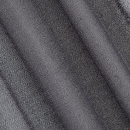 REBECCA GRAFITOWA FIRANA Z ETAMINY O STRUKTURZE DESZCZYKU 140x250 cm NA PRZELOTKACH - 140 X 250 cm