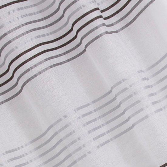 Zasłona gotowa poziome pasy na białym tle 140x250 cm przelotki - 140x250