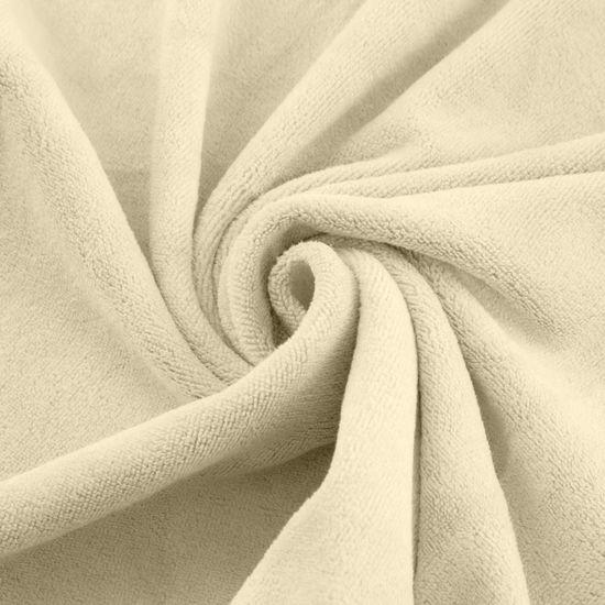 Ręcznik z mikrofibry szybkoschnący kremowy 50x90cm  - 50 X 90 cm