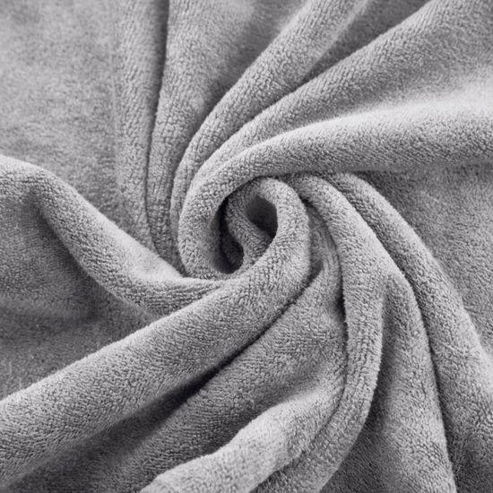 Ręcznik z mikrofibry szybkoschnący stalowy 50x90cm  - 50 X 90 cm