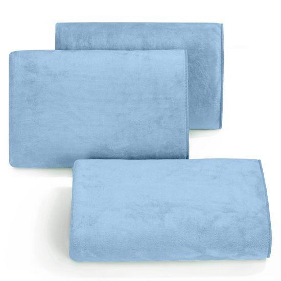 AMY NIEBIESKI RĘCZNIK Z MIKROFIBRY SZYBKOSCHNĄCY 70x140 cm EUROFIRANY - 70 X 140 cm - niebieski
