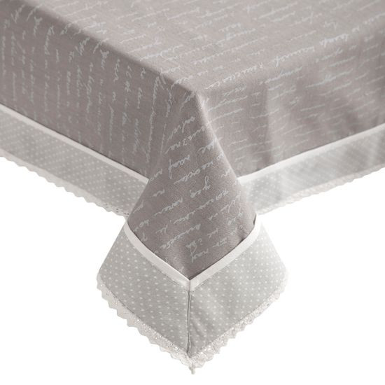 Obrus 100% bawełna stalowy 150 x 220 cm - 150 X 220 cm