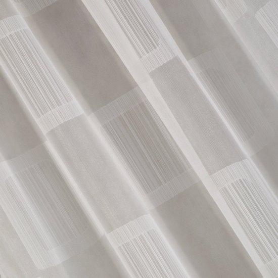 Minimalistyczna biała zasłona na taśmie tunel 140x250 cm - 140 X 250 cm - biały