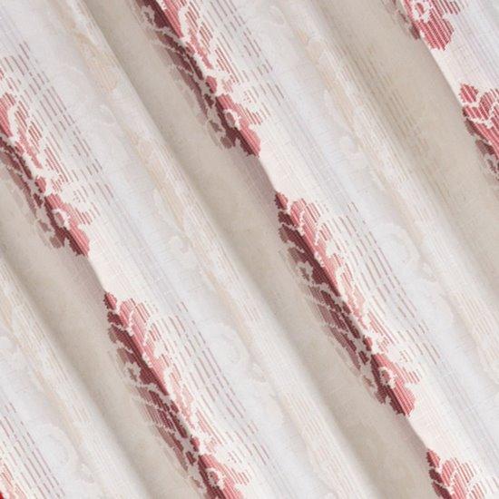 Zasłona z cieniowanymi ornamentami bordowa przelotki 140x250cm - 140x250