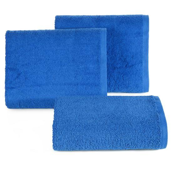 Gładki ręcznik kąpielowy ciemny niebieski 50x90 cm - 50 X 90 cm