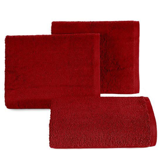 Ręcznik bawełniany gładki bordowy 50x90 cm - 50 X 90 cm