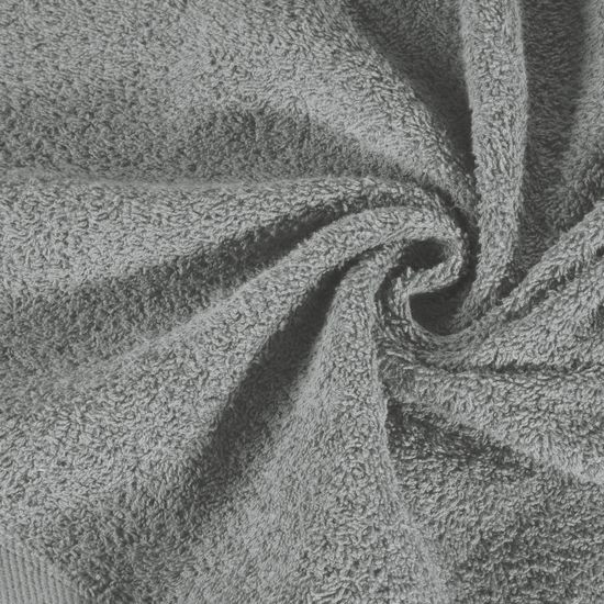 Gładki ręcznik kąpielowy stalowy szary 50x90 cm - 50x90