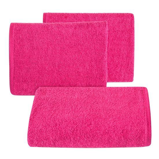 Gładki ręcznik kąpielowy amarantowy 50x90 cm - 50 X 90 cm - liliowy