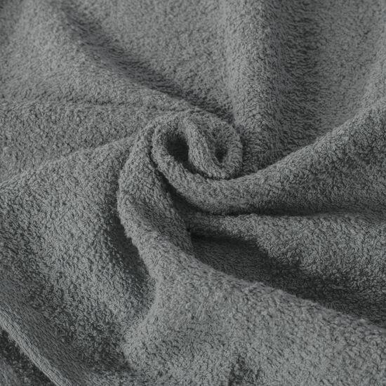 Gładki ręcznik kąpielowy stalowy szary 30x50 cm - 30 X 50 cm - stalowy