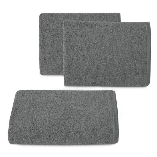 Gładki ręcznik kąpielowy stalowy szary 70x140 cm - 70 X 140 cm