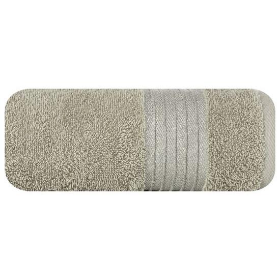 Klasyczny ręcznik kąpielowy beżowy 70x140 cm - 70 X 140 cm - beżowy