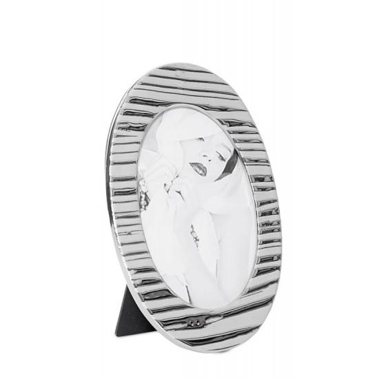 Ramka na zdjęcia owalna ceramiczna 22 x 14 x 0.8 cm - 22 X 14 X 0.8 cm