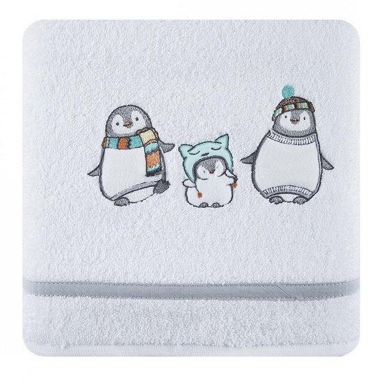 Ręcznik dziecięcy z aplikacją z pingwinkami 50x90cm - 50x90