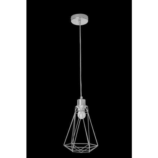 Lampa metalowa loftowa czarno-złota styl industrialny - ∅ 19 X 31 cm