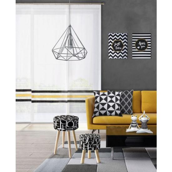 Lampa metalowa loftowa czarno-złota styl industrialny - średnica19x31 - srebrny