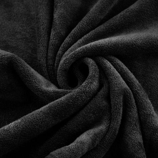 Ręcznik z mikrofibry szybkoschnący czarn 50x90cm  - 50 X 90 cm