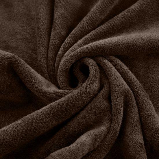 Ręcznik z mikrofibry szybkoschnący brązowy 50x90cm  - 50 X 90 cm