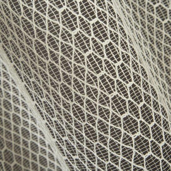 Klasyczna kremowa firana gotowa przelotki 140x250 - 140 X 250 cm