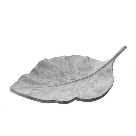 Patera ceramiczna liść 41 x 11 x 26 cm - 41 X 11 X 26 cm - biały