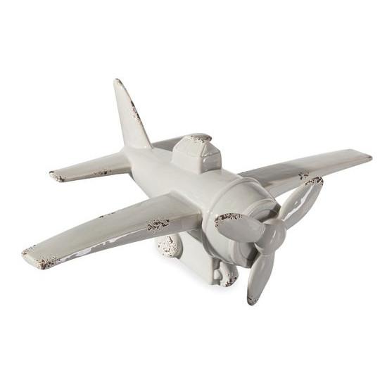 Figurka z dolomitu samolot 33 x 21 x 12 cm shabby chic - 33 X 21 X 12 cm