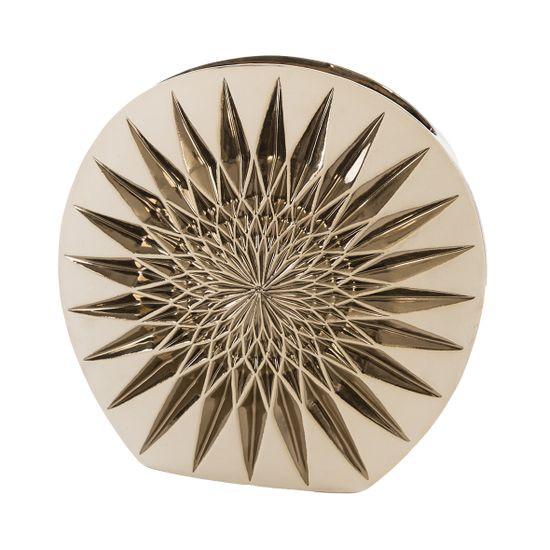 Wazon dekoracyjny porcelana stare złoto porcelana 38 cm - 37 X 14 X 38 cm