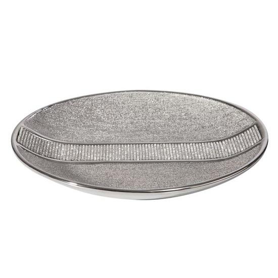 Patera ceramiczna z pasem kryształów 30 cm - ∅ 31 X 4 cm
