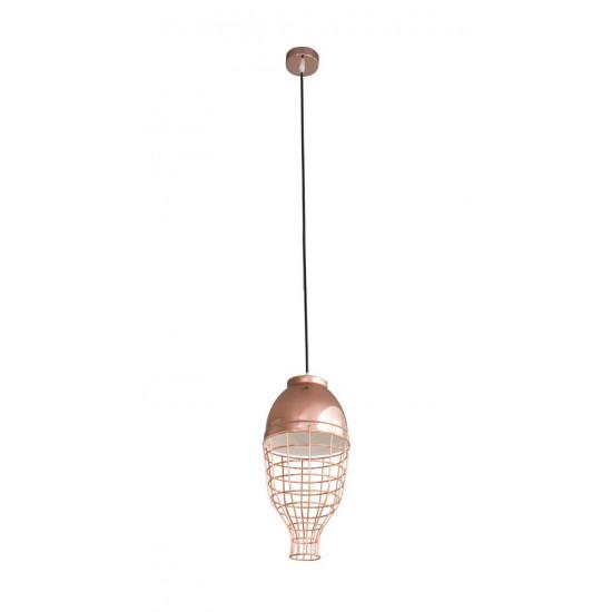 Lampa metalowa loftowa złota styl industrialny  - ∅ 20 X 21 cm