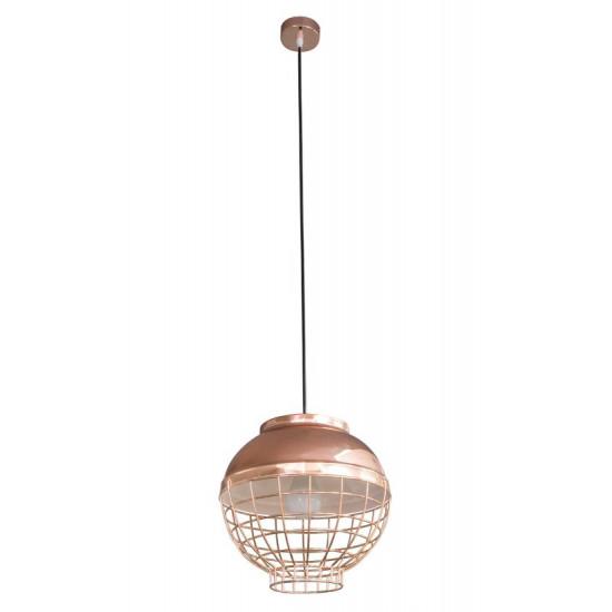 Lampa metalowa loftowa złota styl industrialny - ∅ 30 X 12 cm - miedziany