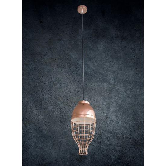Lampa metalowa loftowa złota styl industrialny - ∅ 30 X 12 cm
