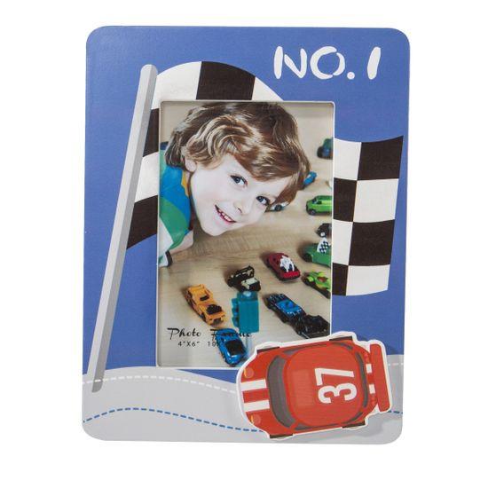 Ramka na zdjęcia z drewna sport 17 x 22 x 1 cm - 17 X 22 X 1 cm - niebieski/mix kolorów