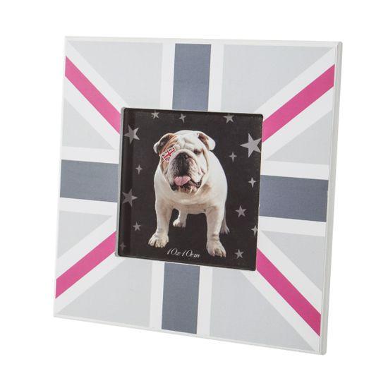 Ramka na zdjęcia z motywem brytyjskiej flagi 17 x 17 x 1 cm  - 17 X 17 X 1 cm