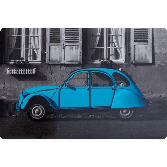 Retro car podkładka stołowa niebieska 30x43 cm - 30 X 43 cm - szary/turkusowy