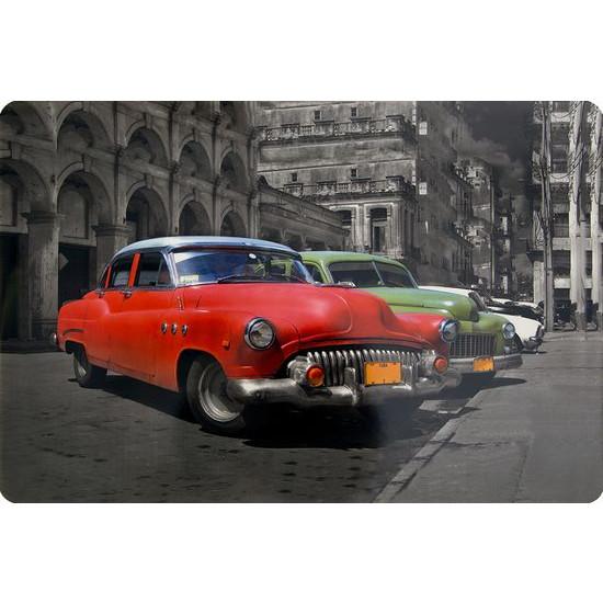 Retro car podkładka stołowa czerwona 30x43 cm - 30 X 43 cm - szary/czerwony