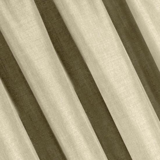 Beżowe zasłony o strukturze płótna taśma 140x270 cm - 140 X 270 cm