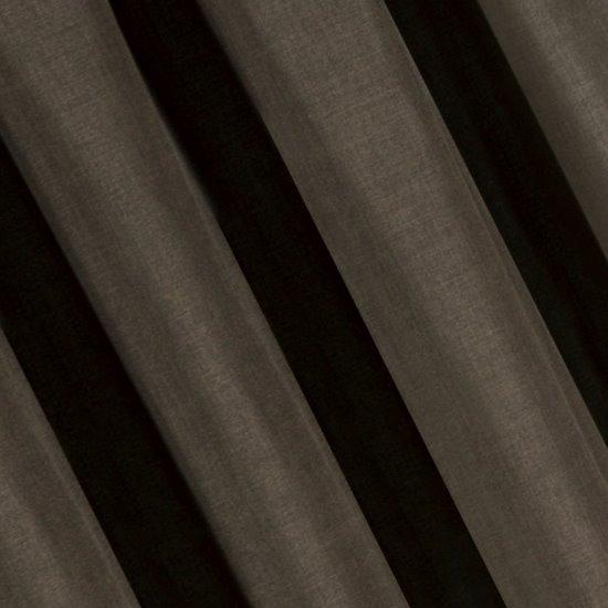 Brązowa gładka zasłona o strukturze płótna 140x270 cm przelotki - 140 X 270 cm - brązowy