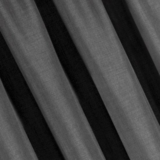 Grafitowa zasłona o strukturze płótna na przelotkach 140x270 cm - 140 X 270 cm