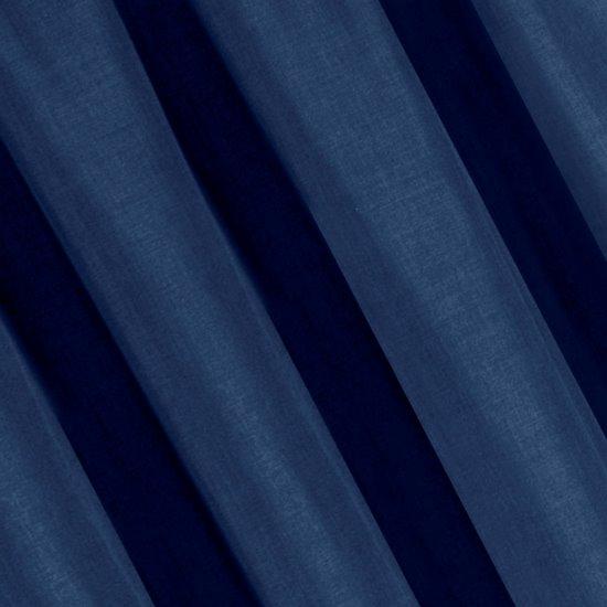 Granatowe zasłony o strukturze płótna taśma 140x270 cm - 140 X 270 cm