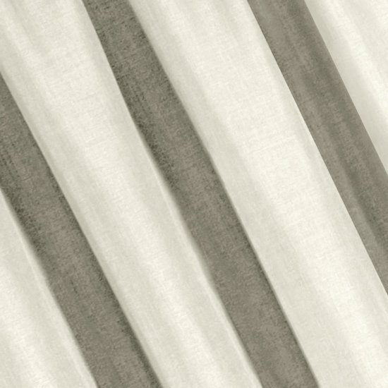Kremowa gładka zasłona o strukturze płótna 140x270 cm przelotki - 140 X 270 cm - ecru