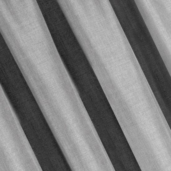 Srebrna zasłona o strukturze płótna na taśmie marszczącej 140x270 cm - 140 X 270 cm